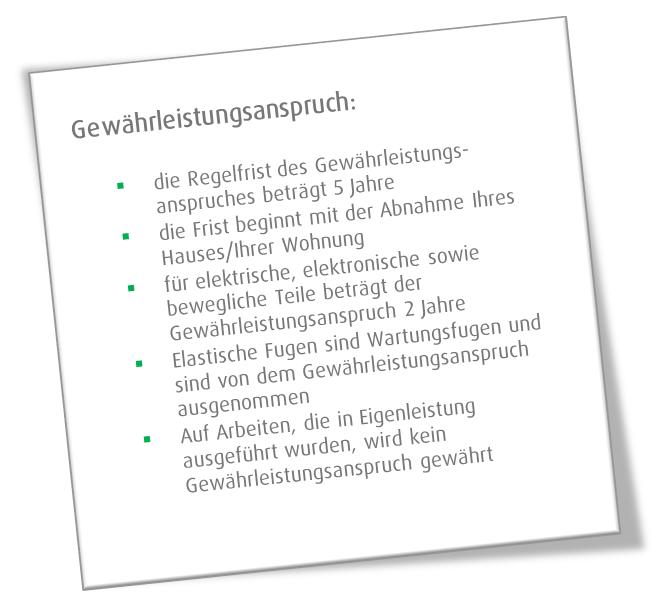 Weisenburger Bau Gewährleistungsanspruch
