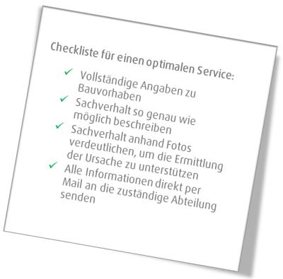 Weisenburger Bau Checkliste