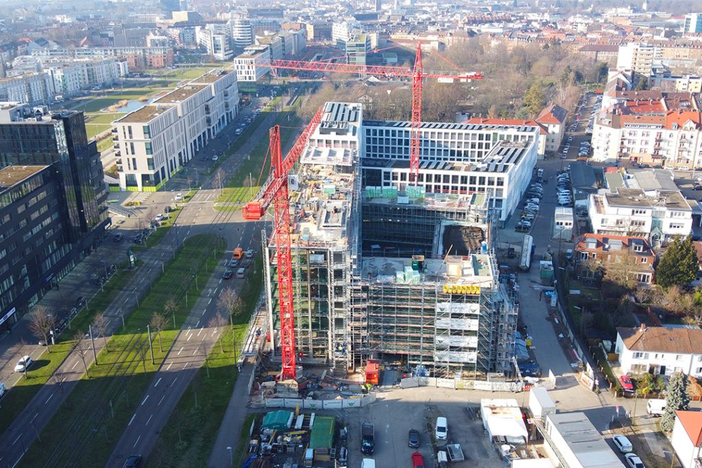 weisenburger Unternehmenszentrale Karlsruhe Drohnenaufnahme