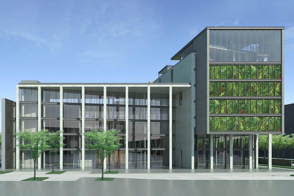 weisenburger Unternehmenszentrale Karlsruhe Visualisierung west view