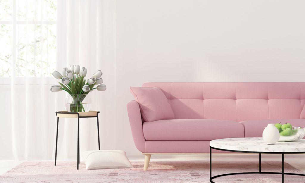 Trendfarbe der Innenraumgestaltung 2020 - Erdbeere