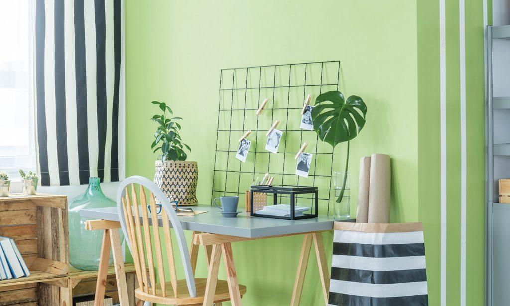Trendfarbe der Innenraumgestaltung 2020 - Pistazie