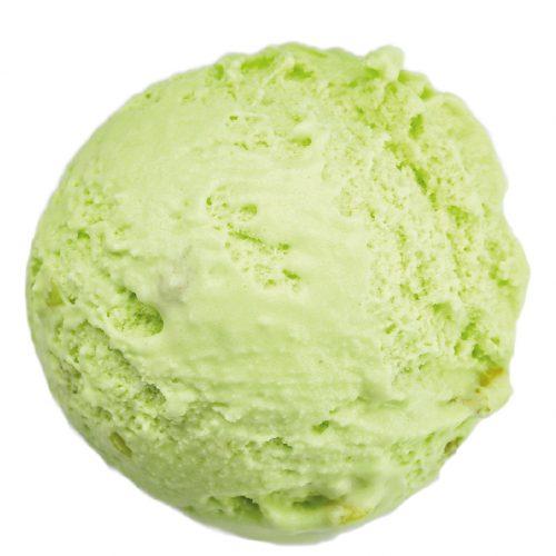Eiscremesorte und Trendfarbe - Pistazie